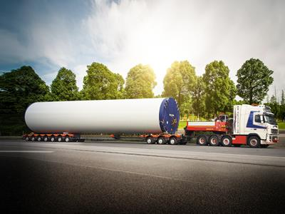 CombiMAX- Modular semi-trailer for wind turbine transport