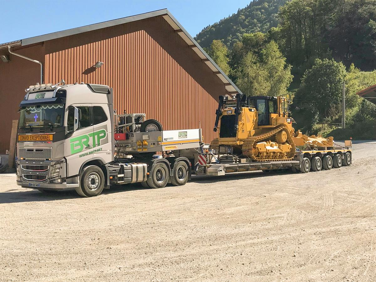 Low Bed Semi Trailer For Heavy Duty Special Transports Variomax