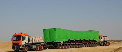 09-2017: Universal Transport operating in Egypt with Faymonville modules