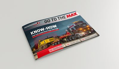 "Discover the new Faymonville magazine edition Discover in the new ""Go to the MAX"" the new Faymonville products, the new technologies offered but also the success stories and other interesting articles in the world of semi-trailers."