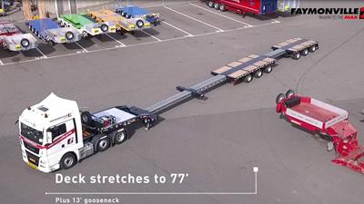 New for North America: the 6-axle (3+3) stretch single-drop trailer