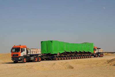 Universal Transport operating in Egypt with Faymonville modules