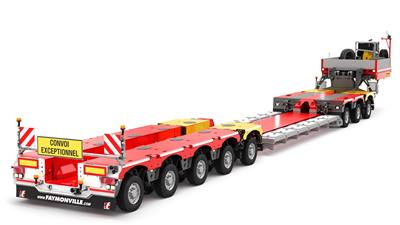 VarioMAX Plus lowbed trailer The VarioMAX Plus is the compact specialist for payloads up to 105t