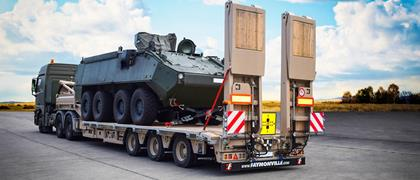 The MultiMAX semi-trailer to move military equipment
