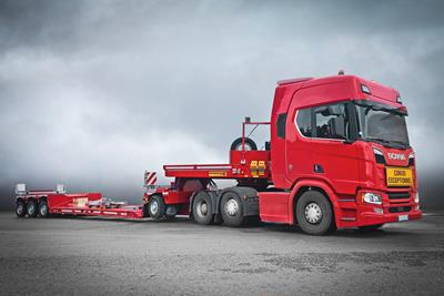 A new GigaMAX low-bed semitrailer for Wack Transports