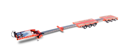 The MultiMAX 3+3 single-drop trailer is a real allrounder for the most different heavy haul projects.