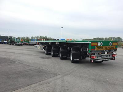 45m loading length for Faucher Tp on its new TeleMAX flatbed semi-trailer