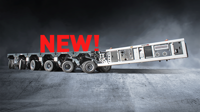 New at Faymonville! Twin tyre self-propelled trailers with electronic steering!