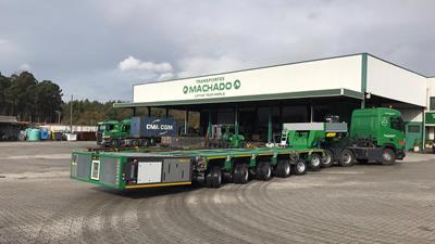 To extend their capabilities on- and off-road, the specialists from Transportes Machado recently took delivery of a new 6-axle ModulMAX modular vehicle with gooseneck & two propelled axle lines.