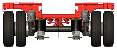 Depending on which application area and load capacity is required, there is a choice between knuckle-steered axles on either pneumatic or hydraulic suspension.